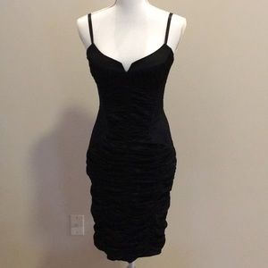 Bebe Satin Ruched Dress. Women's Size M